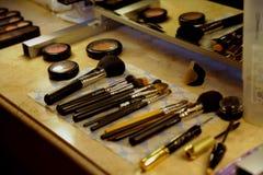 Brush. Set brush to female beautyn royalty free stock images