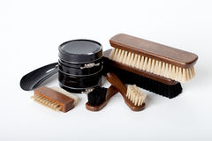 Brush and shoe cream Royalty Free Stock Photo