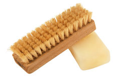 Brush and soap Stock Image