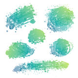Brush stain set. Abstract hand drawn vector ink spot. brush stain set vector illustration