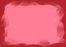 Brush stroke. S on red background Royalty Free Stock Photo