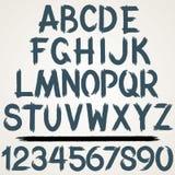 Brush Stroke Alphabet Font. Vector Set Royalty Free Stock Photography