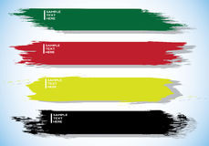 Brush stroke banner. Illustration design Royalty Free Stock Photography