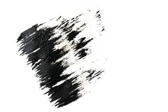 Brush stroke. Black paint on white background. Texture and abstraction. Brush stroke. Black paint on white background. Texture Royalty Free Stock Photos