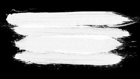 Brush stroke black and white transition background. Animation of paint splash in 4K. Digital on-screen graphic footage. Abstract background for ad and Stock Photo