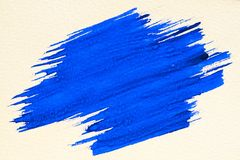 Brush stroke. Blue watercolor texture paint stain brush stroke Royalty Free Stock Photography