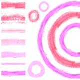 Brush stroke borders 4. Brush stroke borders. Set of vector grunge seamless borders. Fashion design Stock Photography