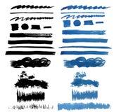 Brush Stroke Collection . Grunge Brush Stroke . Vector Brush Stroke . Distressed Brush Stroke . Black Brush Stroke Stock Photo