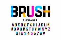 Brush stroke font Royalty Free Illustration