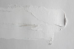 Brush stroke on gray empty wall Royalty Free Stock Images