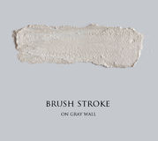 Brush stroke on gray wall Stock Photos