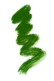 Brush stroke of green paint Royalty Free Stock Images