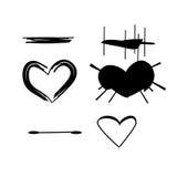 Brush stroke hearts set, vol. 3. Brush stroke hearts set, vol 3 vector Stock Images