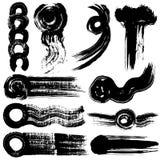 Brush stroke illustrations. hand drawn shapes. Royalty Free Stock Photography
