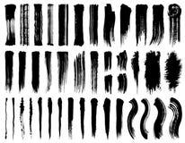 Set of brush stroke illustrations. Brush stroke illustrations. hand drawn shapes vector illustration