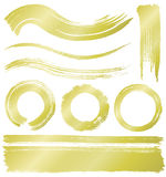 Brush stroke lines and circles. Royalty Free Stock Photo