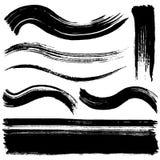Brush stroke lines. Set of brush stroke lines Royalty Free Stock Photos