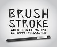 Brush stroke paint font vector vector illustration
