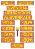 Brush stroke percent Royalty Free Stock Image