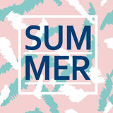Brush stroke seamless pattern with Summer word Stock Photos