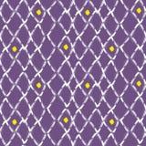 Brush stroke seamless purple mesh pattern. royalty free illustration