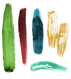Brush stroke set Stock Photos