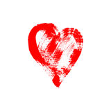Brush stroke sketch drawing of hearts shape set to valentines da. Brush stroke sketch drawing of red heart shape to valentines day isolated on white background Stock Photography