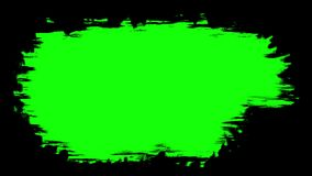 Brush stroke on the surface. The prepared element for mixing frames. Animation pack. Three options for liquid transitions, blue, green, black alpha channel vector illustration