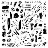 Brush stroke vector set. Stock Images