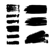 Brush stroke vector set. Royalty Free Stock Images