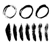 Brush stroke vector set. Stock Photo
