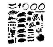 Brush stroke vector set. Royalty Free Stock Photos