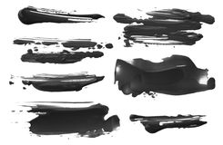 Brush stroke on white. Collection. Isolated. royalty free stock photography