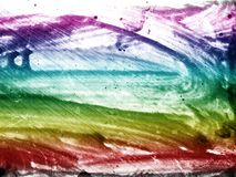 Brush strokes. On rough surface Stock Photography