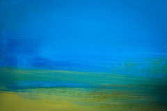 Brush strokes. Colorful hand-painted brush strokes Stock Photos