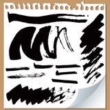 Brush strokes Stock Images
