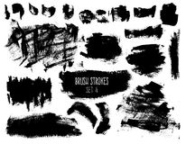 Brush strokes and backgrounds set Royalty Free Stock Photo