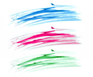 Brush strokes banners isolate on white Royalty Free Stock Image