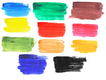 Brush strokes banners Stock Image