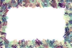 Brush strokes border Royalty Free Stock Photos