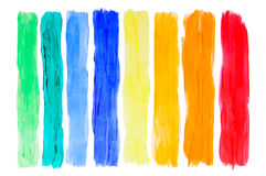 Brush strokes collection Stock Image