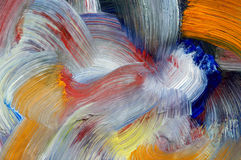 Brush strokes - craftsmanship. Extreme closeup of brush strokes - run colors - craftsmanship Royalty Free Stock Images