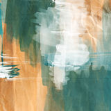Brush strokes on crumpled paper Royalty Free Stock Image
