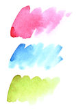 Brush strokes of different colours Royalty Free Stock Photo