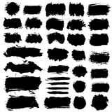 Brush Strokes Grunge COllection Stock Images