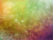 Brush strokes on hand painted background Stock Photo