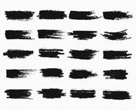 Brush strokes or pen scratches of ink Royalty Free Stock Image
