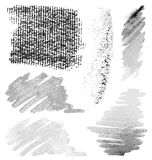 Brush strokes set 3 Stock Images
