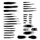Brush strokes set abstract vector illustration Stock Photo