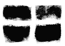 Brush Stroke Paint Boxes Set. Brush Strokes Set. Paintbrush Boxes for text. Grunge design elements. Dirty texture banners. Ink splatters. Vector illustration Stock Photography